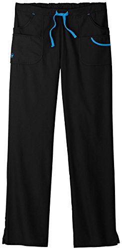 F3 Fundamentals By White Swan Women's Metro Scrub Pant Medium Petite Black from Trust Your Journey