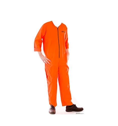 Officer Jumpsuit (Inmate Orange Jump Suit Stand-In - Advanced Graphics Life Size Cardboard Standup)
