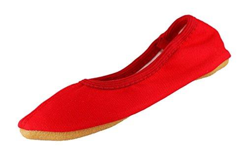 BECK–Zapatillas de gimnasia, diseño nº 060algodón rojo