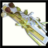 Dark Chocolate Roses with clear Box & Holiday Ribbon - 20 Pieces by VARDA