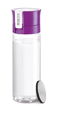 BRITA FILL & GO Water Bottle with Filter + 1 Extra Filter Disc - PURPLE -