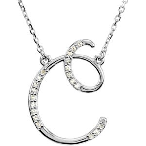 14k white gold diamond c alphabet initial script letter necklace gh 14k white gold diamond c alphabet initial script letter necklace gh color i1 clarity aloadofball Choice Image