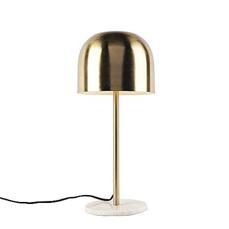 QAZQA Art Déco Lámpara de mesa Art Dèco dorada base de ...