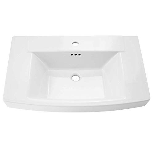 American Standard 0328001.020 Townsend Ped Lav Cho Top -White, - Fireclay Lavatory Console