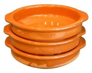 Cazuela, traditionell, flach, braun 10 cm 3er Pack