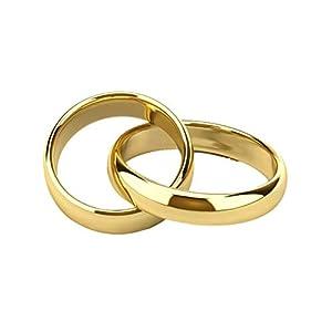 Gold Gala Coppia Fedine in Argento 925 Dorato Incisione Personalizzazione Gratuita Anelli Made in Italy 5