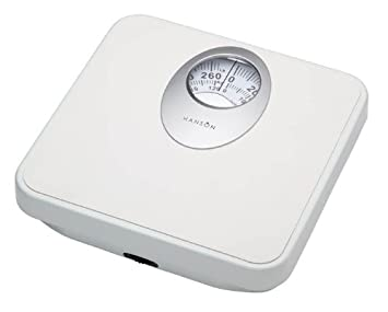 Hanson H61W Mechanical Bathroom Scale With Magnified Display White
