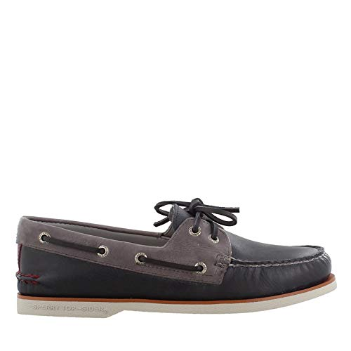 Sperry Top-Sider Gold Cup Authentic Original Fairhaven Boat Shoe Men 10.5 Navy/Grey