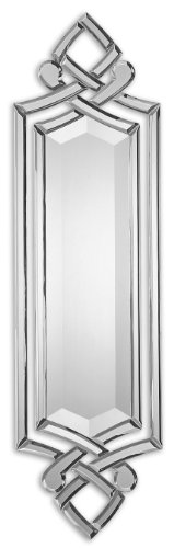 "(Zinc Decor Modern Frameless Scrolled Venetian Beveled Wall Mirror Large 36"" Horchow)"