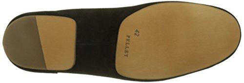 Pellet Herren New Port Slipper Noir (Velours Pesante Noir)