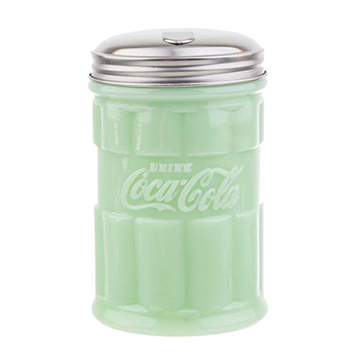TableCraft's Coca-Cola Jadeite Sugar Pourer 3.25 x 3.25 x 5