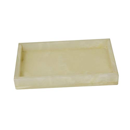 Polished Marble Tray, Pearl Onyx Shower and Bathroom Accessory