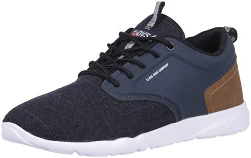 DVS Men's Premier 2.0+ Skate Shoe, Total Eclipse Multi Knit, 12 Medium US