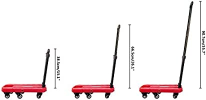 d0f9d493f2c6 AODAILIHB Portable Folding Luggage Cart 360° Rotate Wheels Load 440 ...