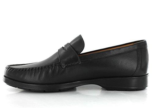 Mephisto HOWARD DESERT 9200 BLACK - Zapatillas de casa de cuero hombre negro