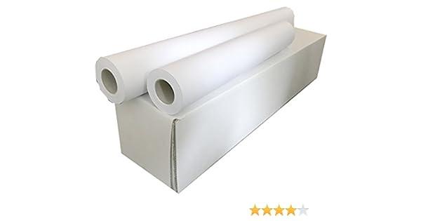 Sa.Ba.Cart 17361005050p00080 unidades 4 rollos Plotter A1, papel mate inyección de tinta, 610 mm x 50 mt orificio 50, 80 g/m²: Amazon.es: Oficina y papelería
