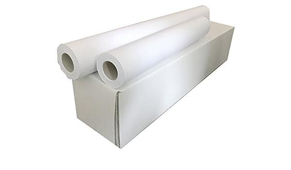 Sa.Ba.Cart 17391405050p00080 unidades 4 rollos Plotter A0, papel mate inyección de tinta (914 mm x 50 mt, orificio 50, 80 g/m²: Amazon.es: Oficina y papelería