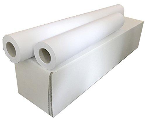 Sa.Ba.Cart 17361005050P00090 Confezione 4 Rotoli Plotter A1, Carta Opaca Inkjet, 610 mm x 50 mt, Foro 50, 90 G/Mq