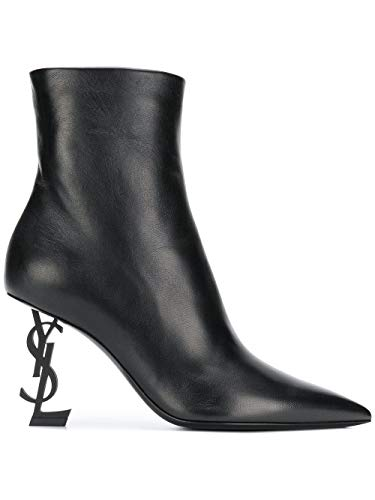 Cuir Noir 5361080rruu1000 Bottines Laurent Femme Saint nBzwIxfx