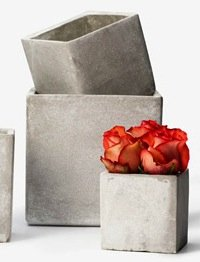 - Square Cement Containers (5 1/2IN SQ X 5 1/2IN H)