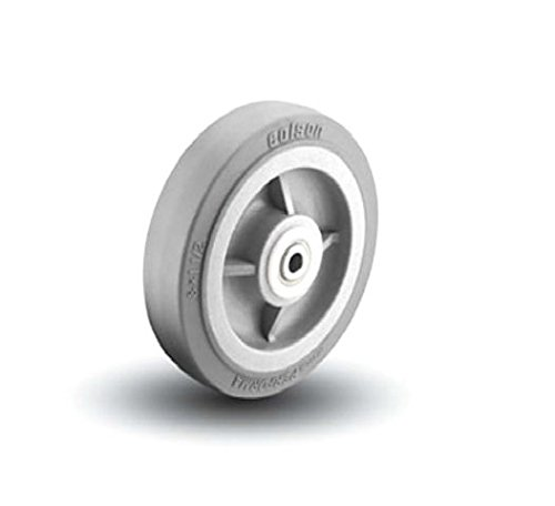 Colson 8'' x 1-1/2'' Gray Non Marking Wheel with Roller Bearing 4-8-449