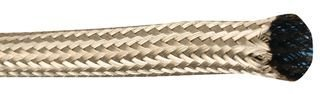 (Sleeving, Oval Wire, Braided, 30.5 m, 100 ft, 9.53 mm, Copper, Tin Plated, Silver)