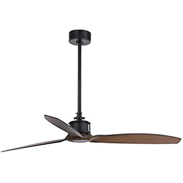 Faro Barcelona 33395 - JUST FAN Ventilador de Techo Negro/Madera ...