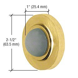 Convex Wall Door Stop (CRL Polished Brass Finish Wall Mounted Convex Type Door Stop)