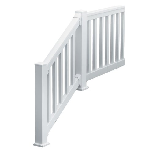 Fypon 740636SQDF QuickRail Straight Kit with Square Spindles and 4