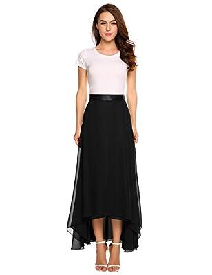 Zeagoo Womens Chiffon Maxi Long Skirt for Beach, Wedding