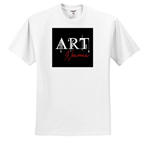 (Alexis Design - Art - Imposing White and red Text Art Nouveau on Black Background - T-Shirts - White Infant Lap-Shoulder Tee (18M) (ts_286482_68))
