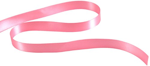 Kel-Toy Double Face Satin Ribbon, 5/8-Inch by 25-Yard, Dark Pink
