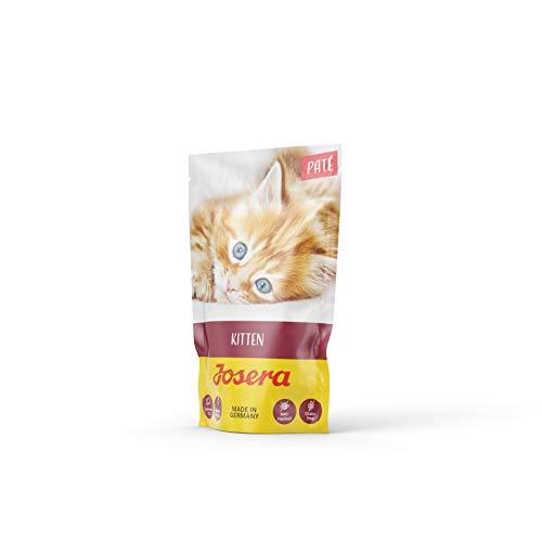 JOSERA Paté Kitten (16 x 85 g) | getreidefreies Katzenfutter mit Huhn, Karotte und Lachsöl | Super Premium Nassfutter…
