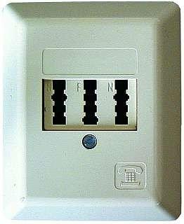 Telefon-Steckdose TAE-NFN Aufputz Elektronik