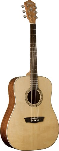 (Washburn WD7S Harvest Series Solid Sitka Spruce/Mahogany Dreadnought Acoustic Guitar - Natural Gloss)