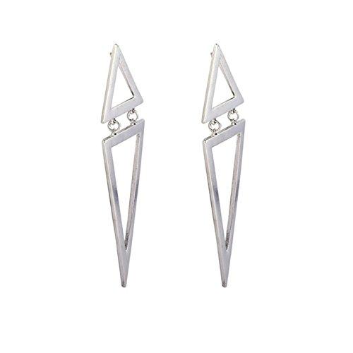 BSGSH Bohemia Fashion Earrings, Simple Style Geometric Triangle Eardrop for Women and Girls (Double Triangle Earrings)