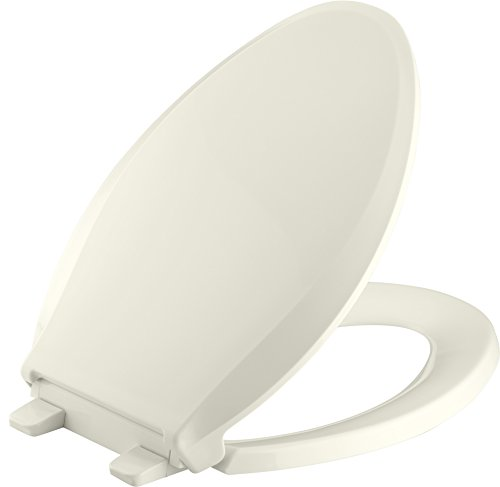 Kohler K-7315-96 Cachet Quick-Relase Grip-Tight Elongated Toilet Seat; Biscut Grip-Tight (Kohler Memoirs Biscuit)