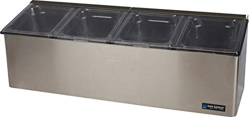 - San Jamar FP8244FL EZ-Chill Stainless Steel Self-Service Center with Flex Lid