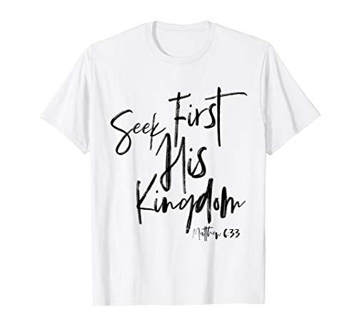 Matthew 6 33, Christian T Shirts Women, Bible Verse