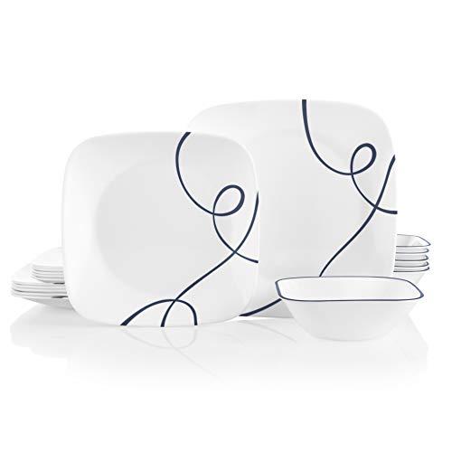 Corelle 18-Piece Service for 6, Chip Resistant Dinnerware Set, Lia (Resistant Dinnerware Set)