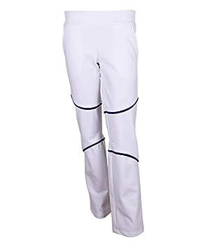 OCHO PADEL Pantalon Blanco Azul: Amazon.es: Deportes y aire ...