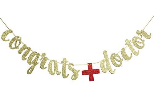 Congrats Doctor Banner, Doctor Graduation Decor, RN Graduation Sign, MD Graduation Garland ()