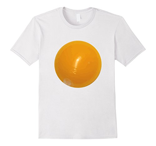 Easy Classic Halloween Costumes (Mens Fried Egg Easy Funny Halloween Costume T-Shirt Kids Adult 2XL White)