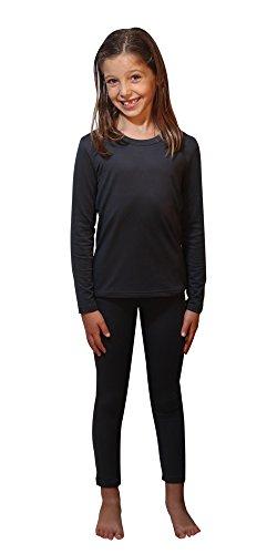 Outland Childrens Thermal Set Lightweight Ultra Soft Fleece Interior  Grey 14 16