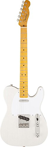 Fender White Classic Guitar (Fender Classic 50's Telecaster Electric Guitar, Maple Fingerboard, White Blonde (Lacquer))