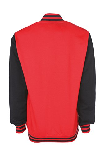 black Blouson Red Homme Teddy Fire Susan Ann Rwq7YX