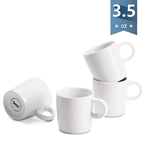 Sweese 4316 Porcelain Espresso Cups - 3.5 Ounce - Set of 4, White ()