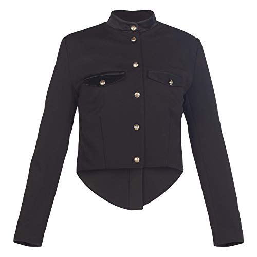 Womens Blazer Outfit - Black || Military Style Wool Jacket - Tailcoat Crop Blazer - Dinner Tuxedo Cut Blazer for women || Custom Handmade Gift for Wedding Festival Occasion Anniversary Graduation