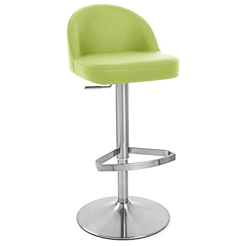 Zuri Furniture Lime Green Mimi Adjustable Height Swivel Armless Bar Stool