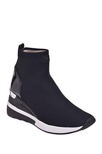 Michael Kors Skyler Fabric Ankle Sneaker Booties in Black Size 8 - Michael Kors Wedge Boots